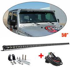 Straight SLIM 50inch 1350W Single Row Led Light Bar Flood Spot Offroad Truck 4WD