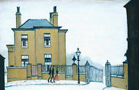 LS Lowry Framed Print – The Old House Grove Street Salford (Picture Painting)