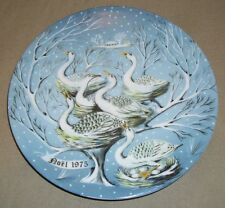 Six Geese a Laying Plate By Limoges, Haviland R H'etreau 1975 #6