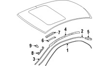 MERCEDES-BENZ 2046983530 GENUINE OEM ROOF MOLDING COVER