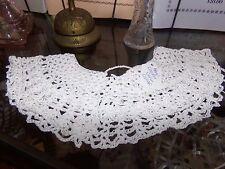 Victorian Attire Civil War New Wht Crochet Collar Accessory 19th Century Costume
