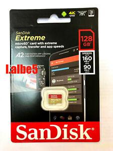 Sandisk Extreme 128GB Micro SD SDXC Memory card V30 A2 U3 4K R160/W90