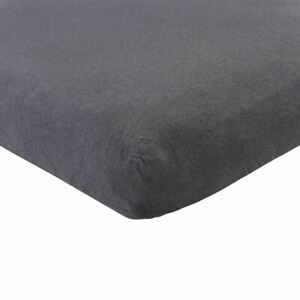 Hudson Baby Fitted Crib Sheet, Heather Charcoal