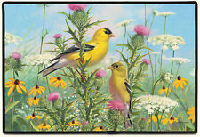 DOOR MATS - GOLDFINCHES IN THE GARDEN DOORMAT - GOLDFINCH DOOR MAT - WELCOME MAT