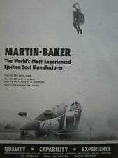 1/1986 PUB MARTIN BAKER EJECTION SEAT SIEGE EJECTABLE ALPHA JET PILOT ESCAPE AD