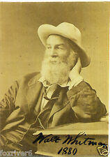 WALT WHITMAN Signed Photograph - Poet / Journalist / Essayist preprint