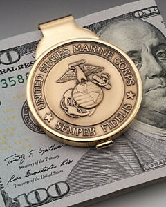 United States Marine Money Clip, Marine Challenge Coin Money Clip, ( # MBUM )