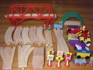 Wood Train Track LOT For Thomas Tank Engine Wooden Railway Bridge Risers
