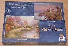 Schmidt Puzzle - Thomas Kinkade 2in1 - Everett's Cottage - 500+1000 Teile (K3)