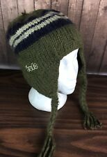 Bula Green Knit Stocking Cap Winter Ski Snowboard Hat