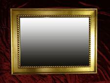 Holzrahmenspiegel Espejo de Pared Dorado Madera 85x65 cm Kristall-Form Nuevo