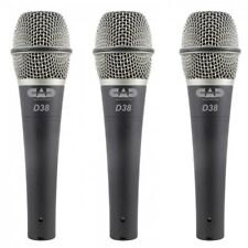 CAD Pack of 3 D38X3 Supercardioid Dynamic Handheld Microphone RRP 99.99