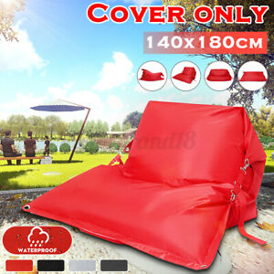 Outdoor 2 Seats Bean Bag Cover Chair Bed Lazy Lounger Cushion Pillow