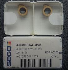 WENDEPLATTEN 2 x SECO LCEX 1105-14WL CP500 WENDESCHNEIDPLATTEN CARBIDE INSERTS