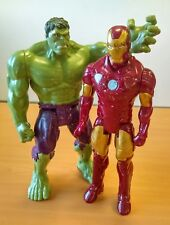 Lot de 2 Figurines Articulés Iron Man vs HULK  Env 29cm Marvel / Hasbro
