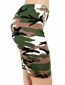 Women Ladies Printed Stretchy Jersey Gym Bike Cycling Tights Hot Pants Shorts
