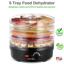5 Tray Food Drier Dehydrator Machine Easy Use Dry Food Jerky Meat Fruit Herb NEW