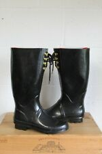 LADIES BLACK RUBBER WELLIES SIZE 6.5 / 40 BY GEORGE USED CONDITION