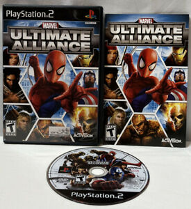 Marvel: Ultimate Alliance (Sony PlayStation 2, 2006) PS2 Complete With Manual