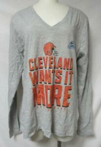 Cleveland Browns Women's Size X-Large 2020 Playoffs Long Sleeve T-Shirt A1 3582
