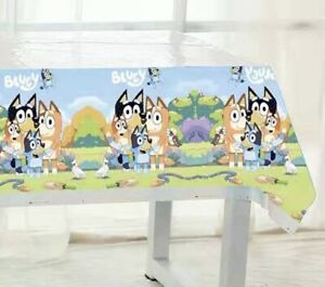 BLUEY DOG TABLE CLOTH COVER TABLECLOTH BIRTHDAY PARTY LOLLY LOOT BAG DECORATION