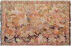 Rare Antique French Tapestry Handmade Tapestry Handwoven Tapestry Verdure 8x6