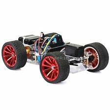 4Wd Rc Smart Car Chassis Platform with S3003 Metal Servo & Bearing Kit for Robot