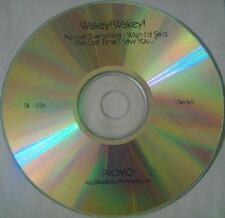 WAKEY WAKEY - ALMOST EVERYTHING I WISH I'D SAID THE LAST - CD, 2009 - PROMO