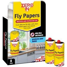 STV Zero In Fly Papers 8 pack - White Paper with Natural Fruit Scent