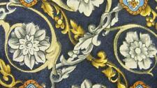 ROCHEL ROYAL DARK BLUE YELLOW FLORAL ART SILK NECKTIE TIE MNO2419C #V10