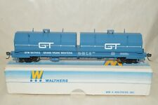 HO scale Walthers Grand Trunk Western Ry steel cushion coil flat car train