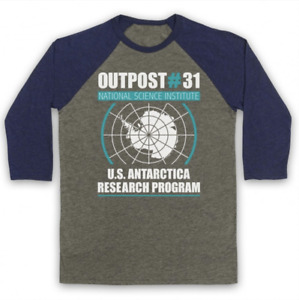 OUTPOST 31 UNOFFICIAL THE THING SCI FI FILM HORROR 3/4 SLEEVE BASEBALL TEE