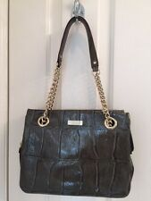 NEW Minty Kate Spade Chain Croc Sholder Bag. Sage Patent w/ Gold Chain Hardware