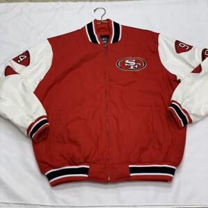 NFL San Francisco 49ers Super Bowl Champions Full Zip Varsity Jacket SZ XL