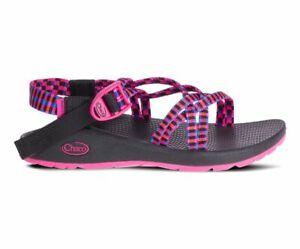 NWOB Chaco Z Cloud X Tartan Magenta Strappy Sandals Size 8