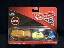 Disney Pixar Cars 3 Lightning McQueen Chester Whipplefilter & Luigi & Guido.