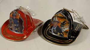The Bradford Exchange Courage Under Fire Black Fireman Helmet Christmas Ornament
