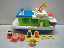 VINTAGE 1972 FISHER PRICE LITTLE PEOPLE PLAY FAMILY HOUSEBOAT #985 COMPLETE