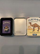 New Listing1997 Camel Joe In The Window Zippo . Purple Matte . Unstruck With Sleeve.