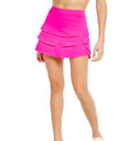 Ideology Women's Tiered Activewear Skort Shorted Skirt, Hot Pink, Size M, NwT