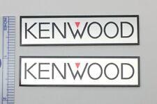 Kenwood Badge Logo Emblem Pair - Use on Speakers, Amps, Turntables, etc