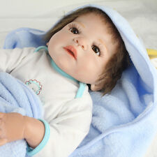 Full Body Vinyl Silicone Bebe Nursery 22'' Reborn Baby Doll newborn Boy Kid Gift