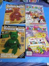 MARY BETH'S BEANIE WORLD, 4 MAGAZINES,JUN, JUN, AUG, OCT, 1998 (ALL NEW)
