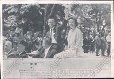 1961 Washington DC Astronaut Alan Sheperd His Wife & VP Johnson Press Photo