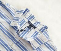 TOMMY HILFIGER Women's NEW Striped Cotton Shirt Blue White Blouse XS RRP $130