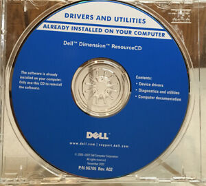 Dell Tools CD - Drivers and Utilities -  Dell Dimension ResourceCD Nov. 2002
