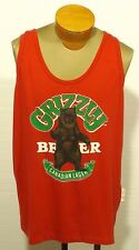 vintage GRIZZLY BEAR BEER CANADIAN LAGER tank too t-shirt The Beer Store L/XL