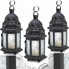 Cutout Lantern Metal Work Black Moroccan Hanging Wedding Centerpieces 3PC Lot
