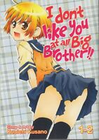 I don't like You at all, Big Brother!! 1-2 Lot of 2 Seinen Manga, English, 16+