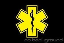 Star of Life Sticker Vinyl EMT Decal Ambulance Medical Emergency Paramedic EMS